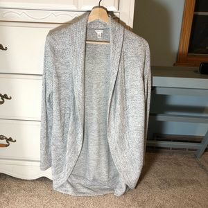 AEROPOSTALE HEATHER GRAY COCOON CARDIGAN